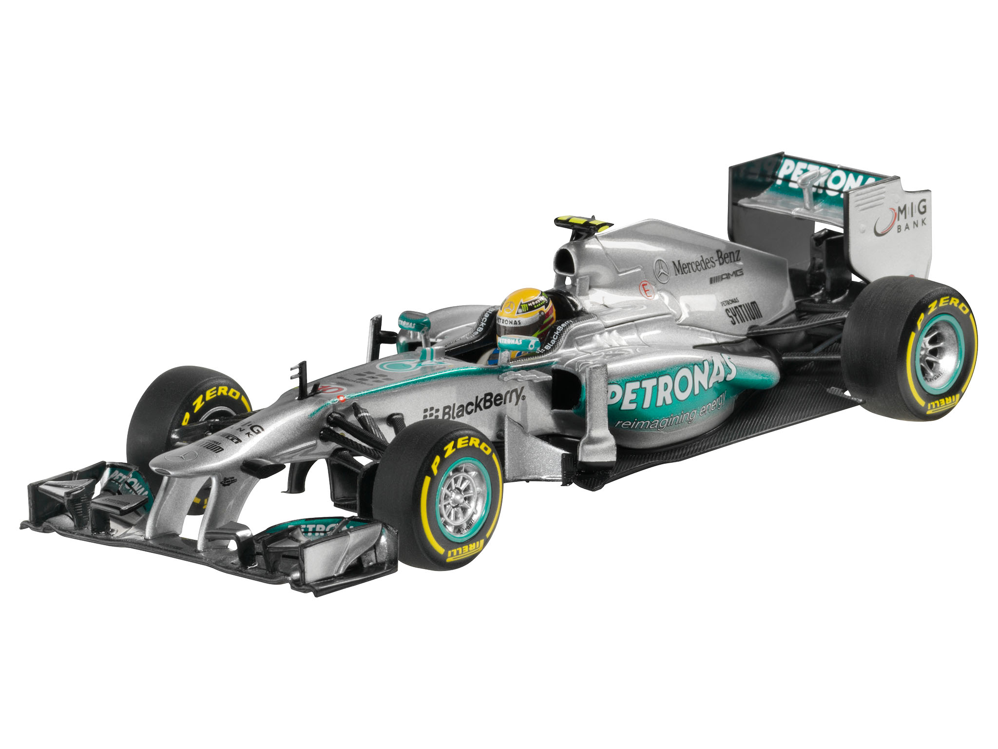 mercedes amg petronas formula one tm team w04 2013 coureur lewis hamilton schaalmodellen. Black Bedroom Furniture Sets. Home Design Ideas
