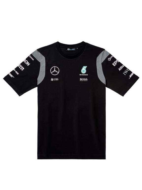 Offici le mercedes amg petronas coureurs t shirt 2016 for Mercedes benz f1 shop