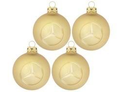 Kerstballen Gold, glas