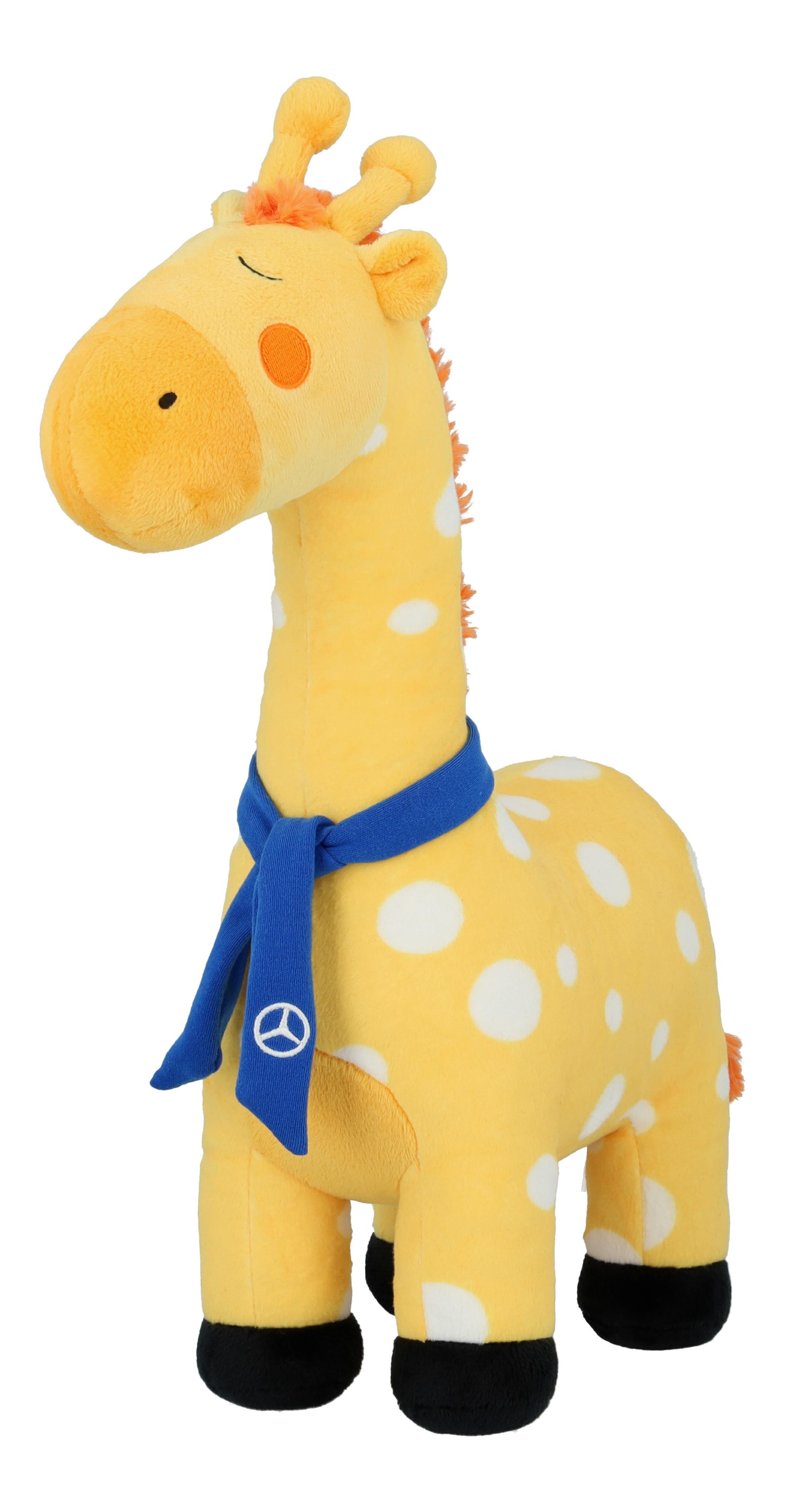 Pluchen giraf, Safari