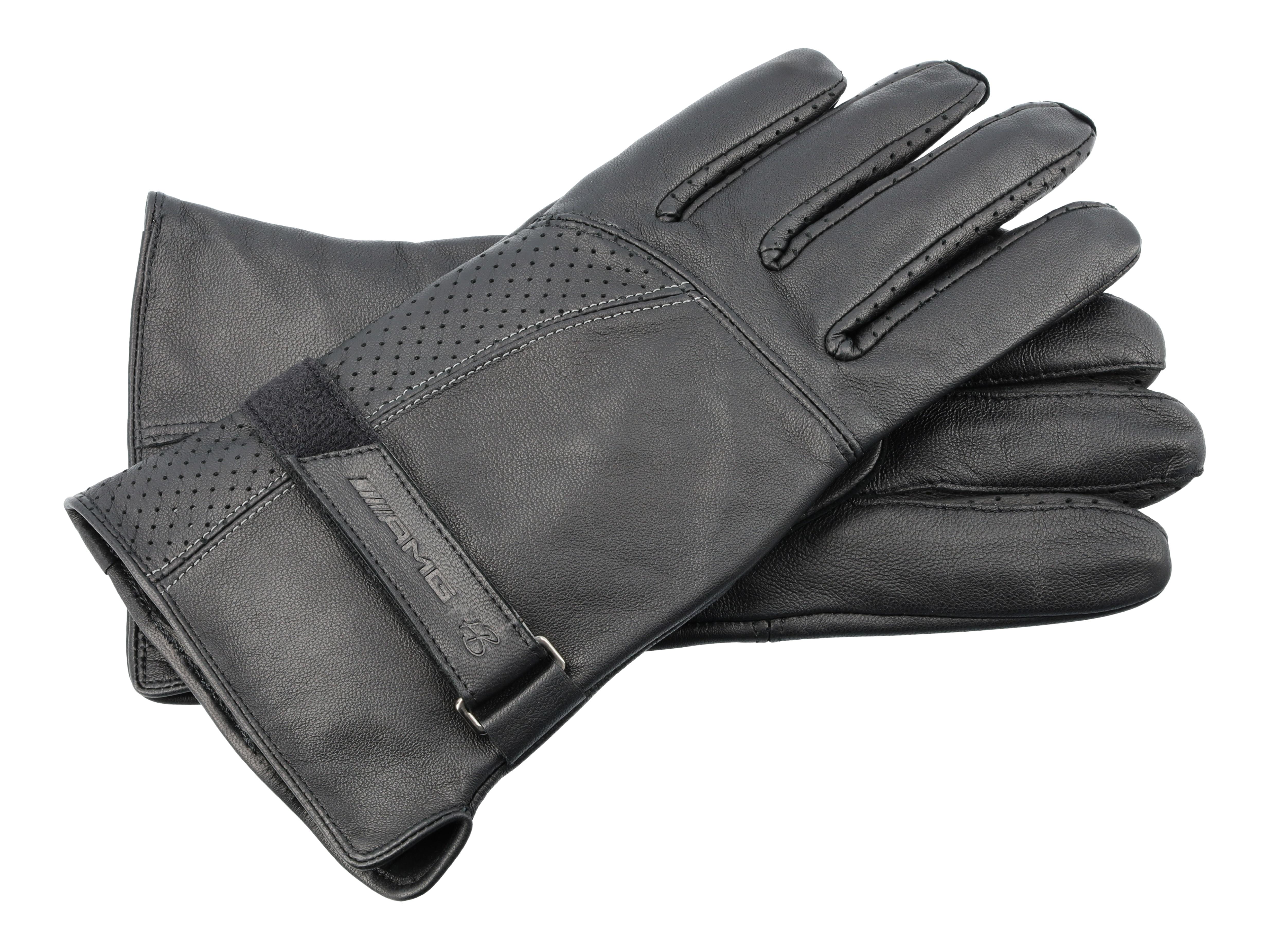 Lederen AMG-handschoenen heren